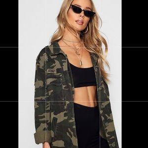 Boohoo Oversized Camo Jacket